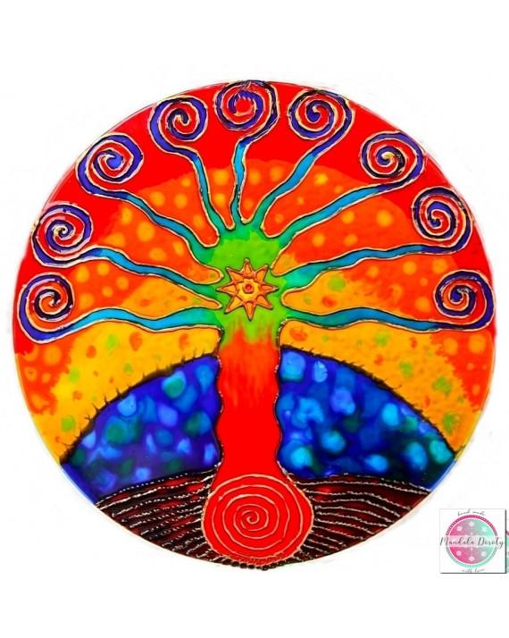 """Mandala na szkle """"Drzewo Pewności Siebie"""""""