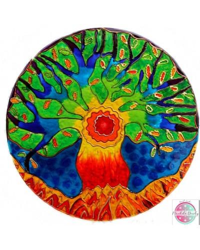 "Mandala on glass ""Rainbow oak"""
