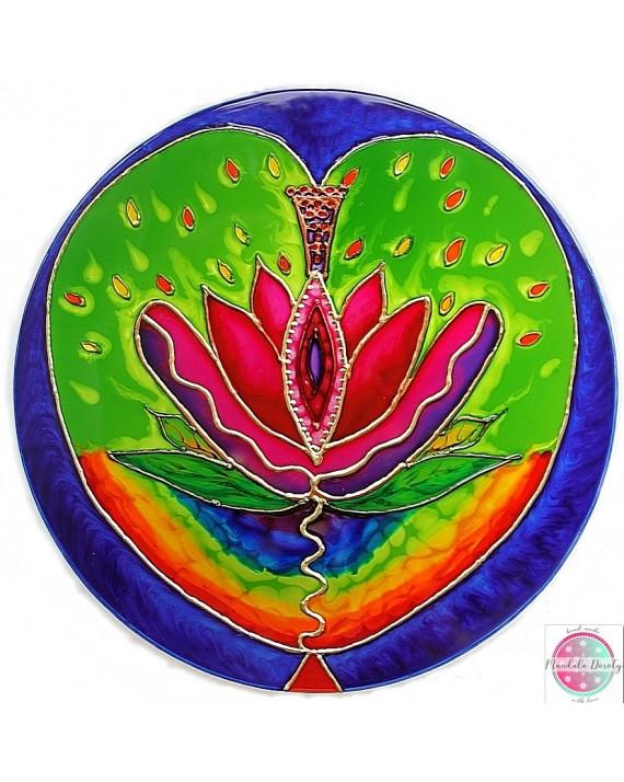 """Mandala on glass """"Yonization"""""""