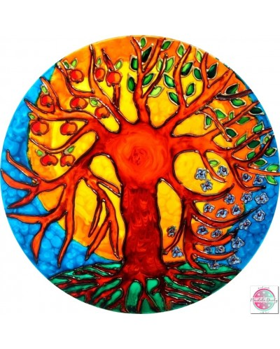 "Mandala on glass ""Tree of Life""."