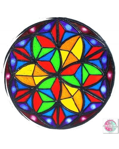 "Mandala on glass ""Kalejdoskop"""
