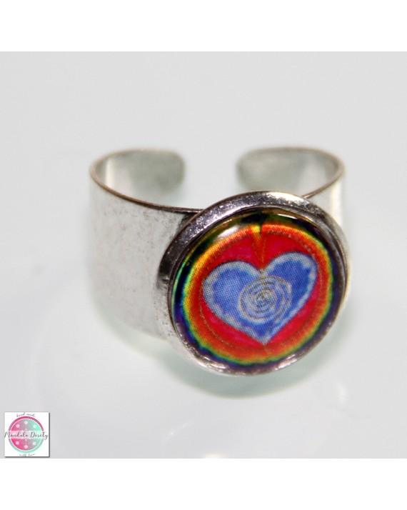 "Ring with mandala ""I love myself""."