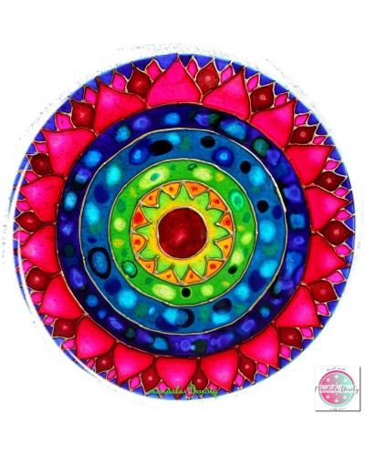 "Mandala on glass ""Kosmic Lotos"""