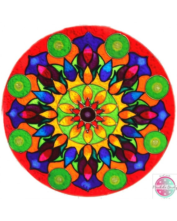 "Mandala on glass ""Flower of Energy"""