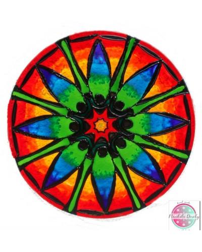 "Mandala on glass ""Lotus Flower - energy of change"""