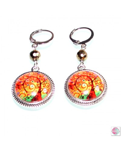 "Earrings with mandala ""Tree of Gratitude""."