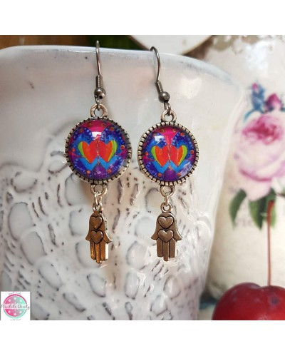 "Earrings with mandala ""Not Two""."