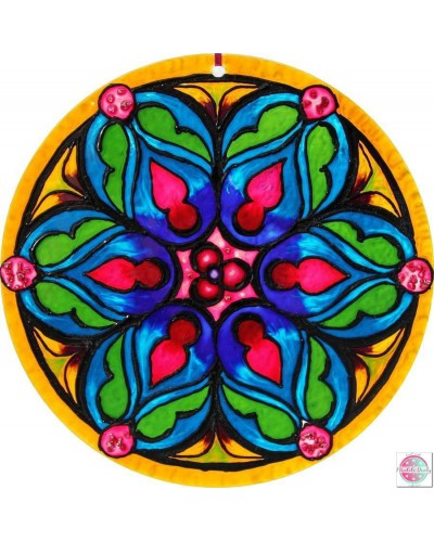 "Mandala on glass ""The fulfillment of the heart"""