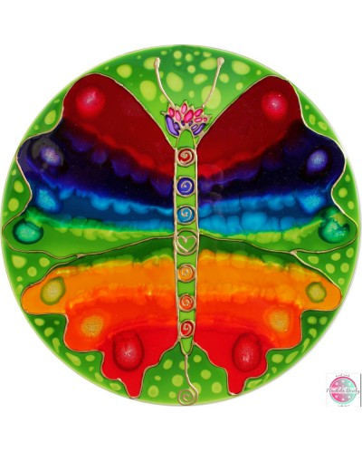 "Mandala on glass  ""Chakras-Transformation""."