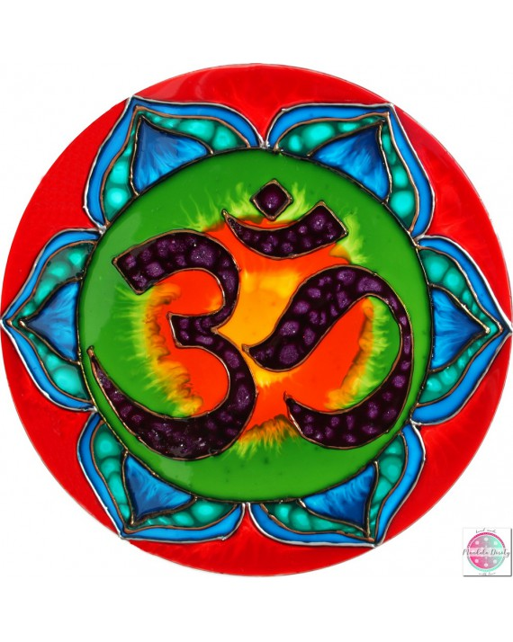"Mandala na szkle ""OM - boska wibracja."