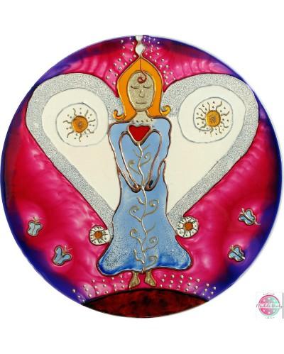"Mandala on glass ""Angel guardian"""