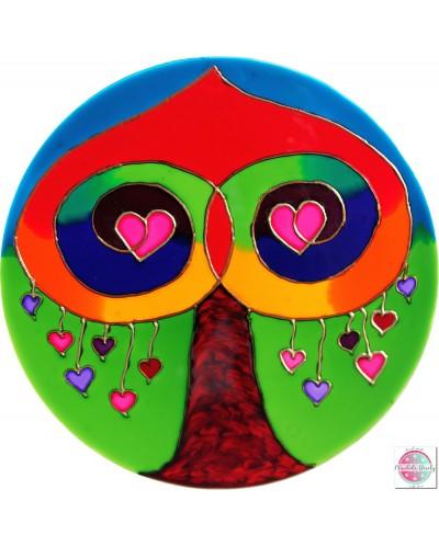 "Mandala on glass ""Love Tree"""