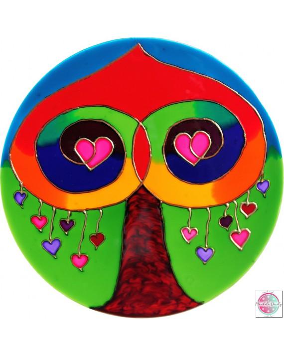 """Mandala na szkle """"Drzewo Miłości"""""""