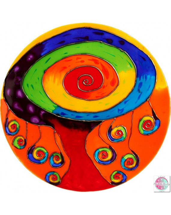 """Mandala na szkle """"Drzewo Obfitości"""""""