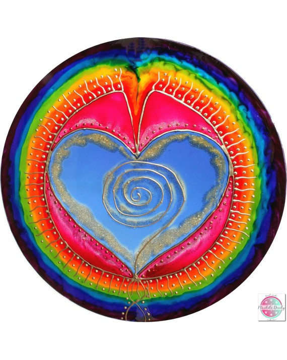 "Mandala on glass ""I love myslef"""