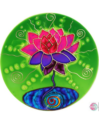 "Mandala on glass ""Hurt blossomed"""
