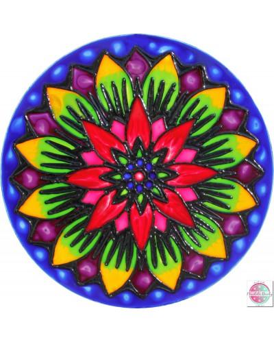 """Mandala on glass """"Flower of Hope"""""""
