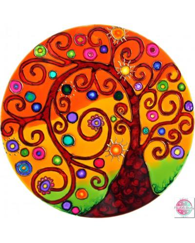 """Mandala na szkle """"Drzewo Wdzięczności"""""""