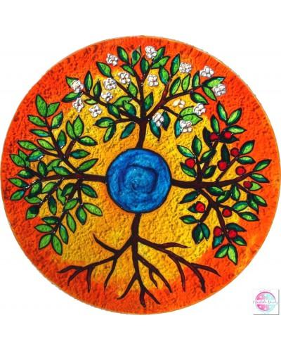 "Mandala na szkle ""Cztery Drzewa"""