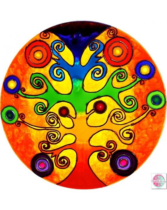 """Mandala na szkle """"Drzewo Przepływ Życia"""""""