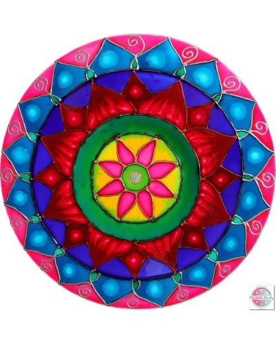 "Mandala on glass ""Lotus Heart"""