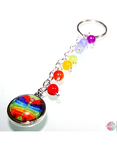 "Key ring with mandala ""Chakro-Transformation""."