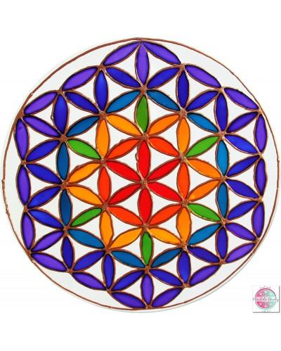 """Mandala on glass """"Flower of Life"""""""