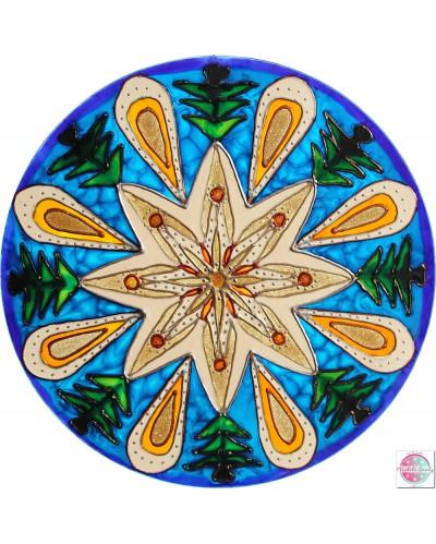 "Mandala on glass ""Calm""."