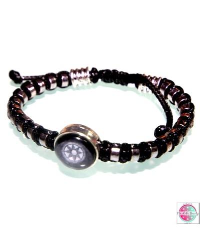 "Bracelet with mandala ""Heart Lotus""."