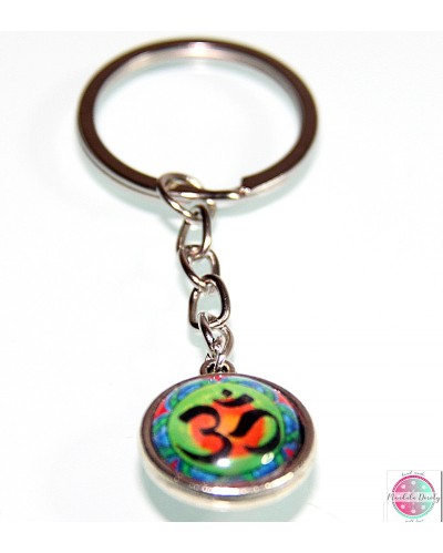 "Key ring with mandala ""OM""."