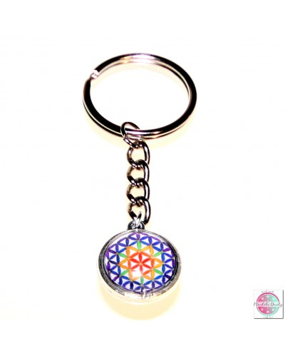 "Key ring with mandala ""Flower of Life""."