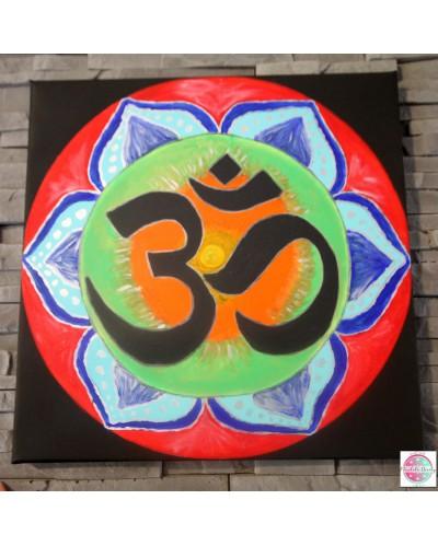 """Mandala """"OM"""" na płótnie."""
