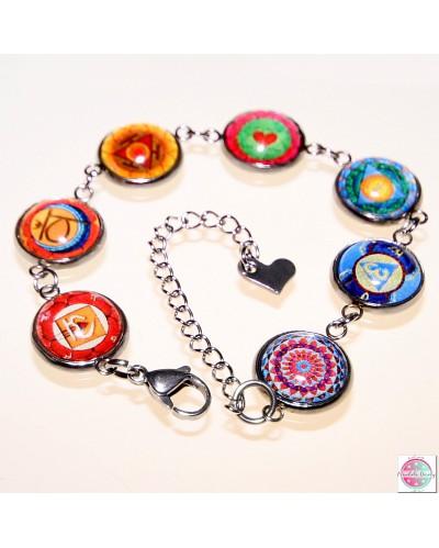 7 chakras bracelet stainless.