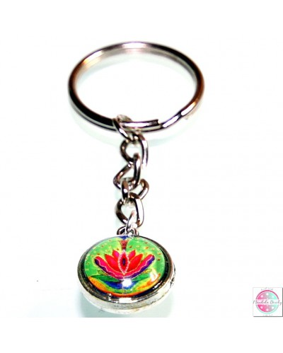 "Key ring with mandala ""Yoni""."
