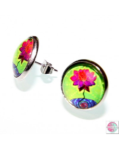 "Earrings with mandala ""Hurt blossomed"""