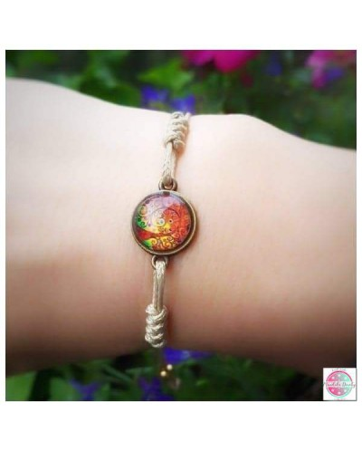 "Bracelet with mandala ""Tree of Gratitude""."