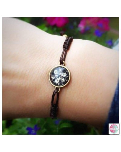 "Bracelet with mandala ""Crystal Shield""."