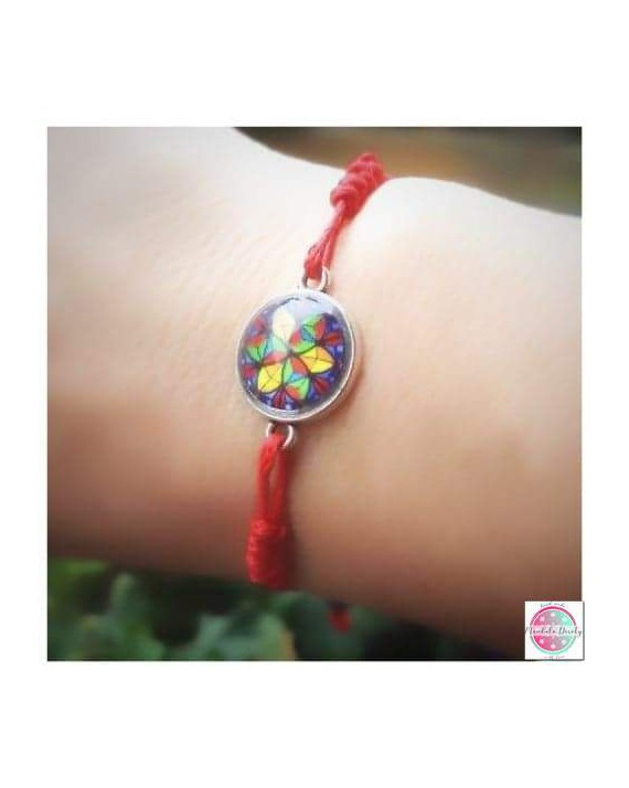 "Bracelet with mandala ""Crystal Shield"" protection."