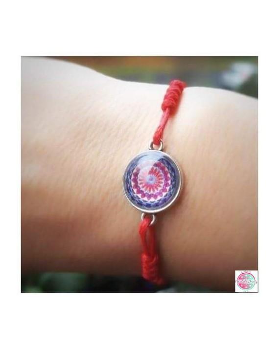 "Bracelet with mandala ""Crown Chakra""."