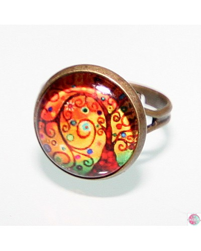 "Ring with mandala ""Tree of Gratitude""."