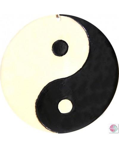 """Mandala na szkle """"Yin Yang""""."""