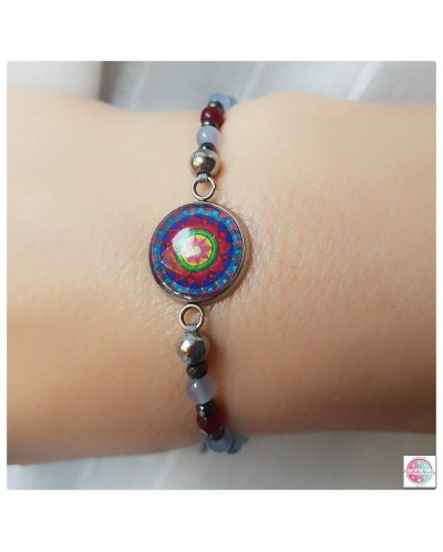 "Positive ""music box"" bracelet with the ""Lotos of the Heart"" mandala."