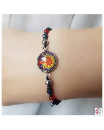 """Positive bracelet with a mandala """"Tree of Joy""""."""