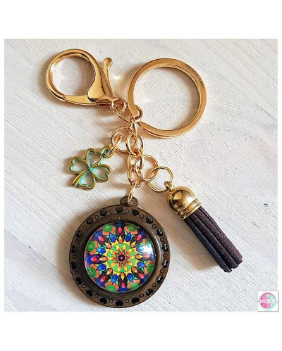 "Key ring with a mandala ""Flower of Energy"""
