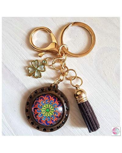 """Key ring with a mandala """"Waves Fractals."""""""