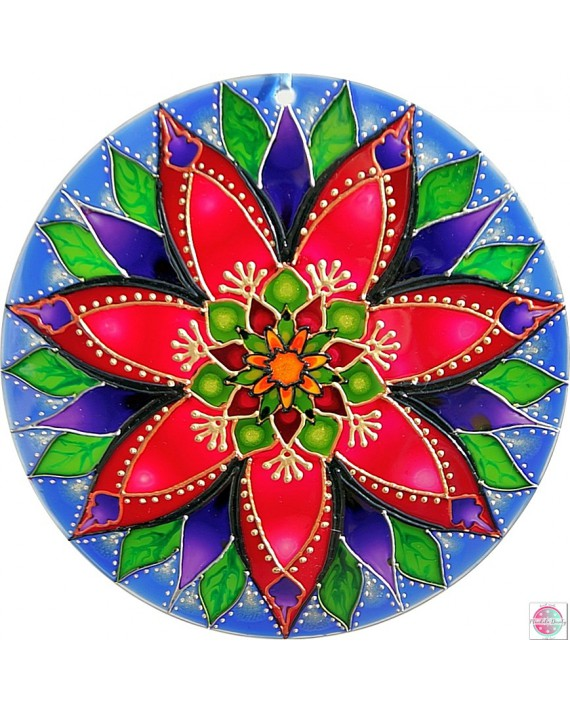 "Mandala on the glass ""Delight""."