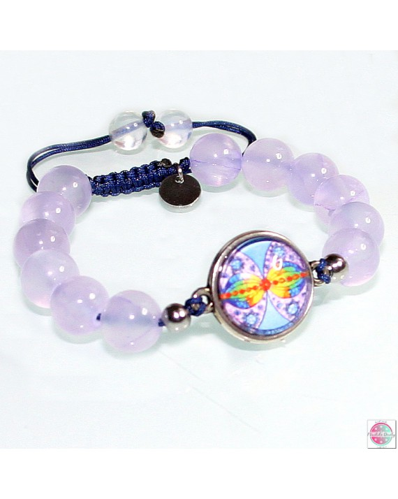 """Bracelet with mandala """"Connection at infinity""""."""