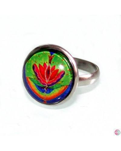 "Ring with mandala ""Yoni-zing""."