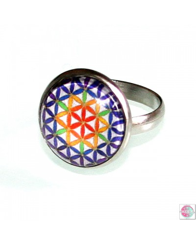 "Ring with a mandala ""Flower of Life""."