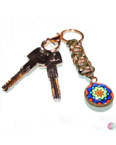 """Keychain paracord """"Change and Development""""."""